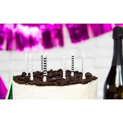 bougies, noir, blanc, anniversaire, décoration, pirates, adultes, enfants