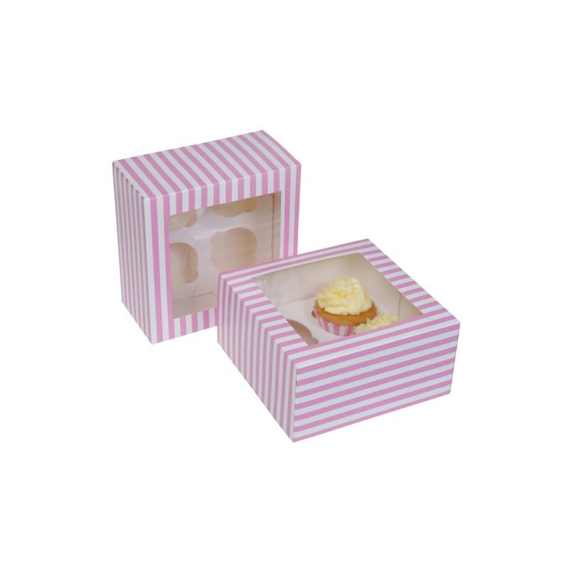 "Cupcake Box 4 ""Circus Pink"" Pk/2"