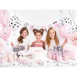 Schachtel, Dekoration, Geburtstag, Mädchen, Prinzessin, Erwachsene, rosa, schwarz, Pompon, Pfeife, Ballon