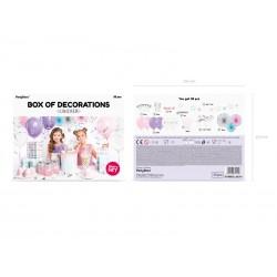 box, decoration, unicorn, party, birthday, girl