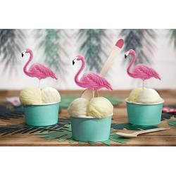 Becher, Eis, Hausgemacht, Geburtstag, Türkis, tropisch, Flamingo