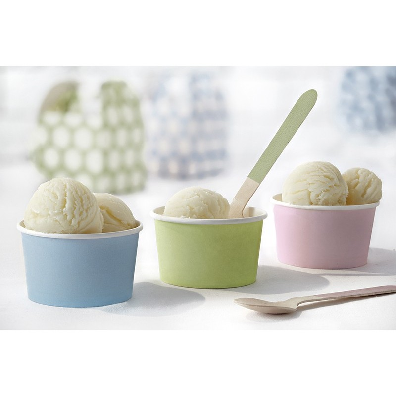 Cups, Ice cream, homemade, pastel, blue, pink, green, rainbow