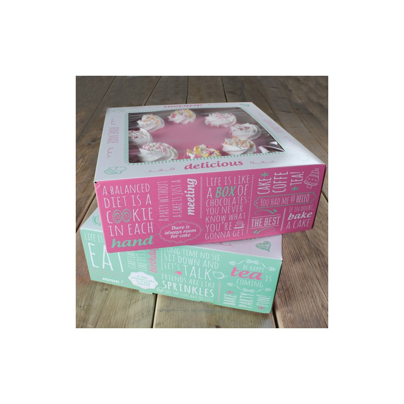 Boîte à gâteau - 26x26x12cm - pk/2