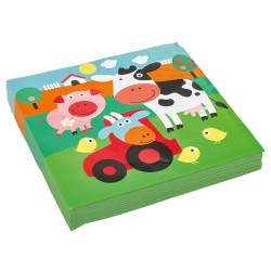 Napkins Farm animals