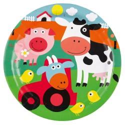Teller Bauernhof Tiere