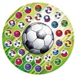 Essbare Scheibe Fussball
