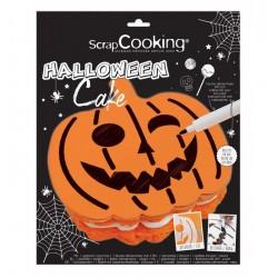 Stencil + Pen Halloween cake