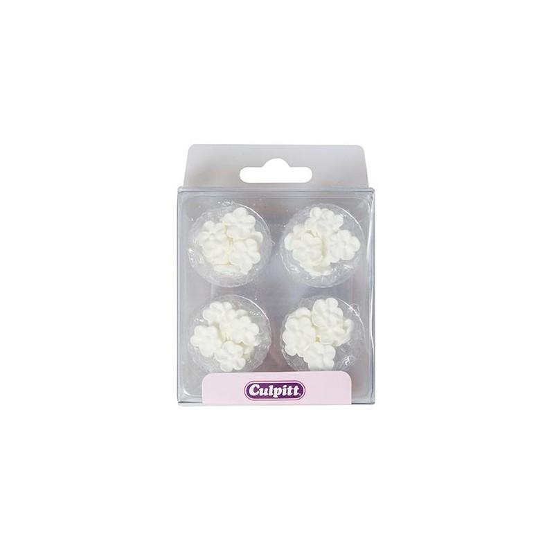"""Décoration Sucre """"Mini Boutons Blanc"""" - pcs/48"""