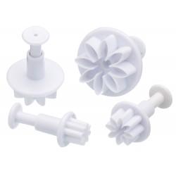 emporte-pièce à piston - 4 pièces motif fleur