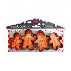 cookie cutters, 4, gingerbread, man, gingerbread man