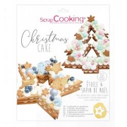 number cake, schablonen, weihnachten, tannenbaum, stern