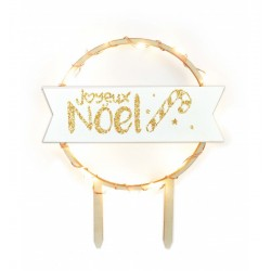 cake, topper, led, joyeux noël, Christmas, decoration