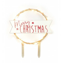 cake, topper, led, merry christmas
