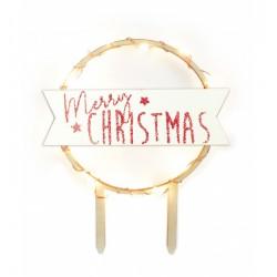 cake, topper, led, merry christmas