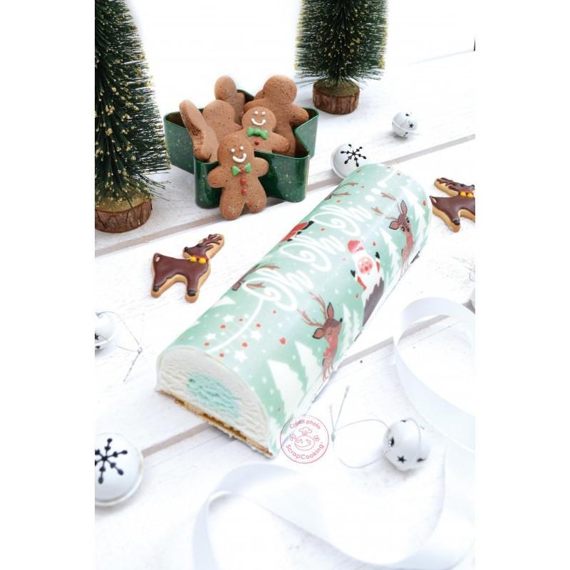 Sugar paste roll, hohoho, Santa Claus, reindeer, Christmas