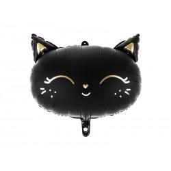 ballon, chat, noir, halloween, decoration