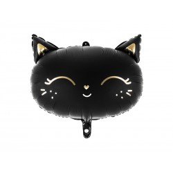 balloon, cat, black, halloween, decoration