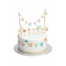 Baby Flag Cake Toppers and Bunting