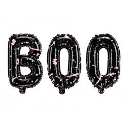 Ballon, halloween, boo, noir