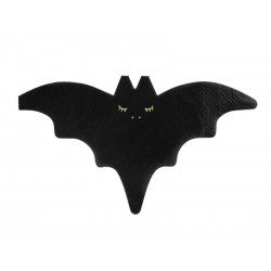 napkins bat, black, halloween