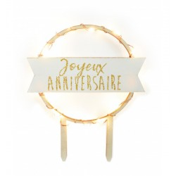 topper, led, joyeux anniversaire, Birthday, Decoration