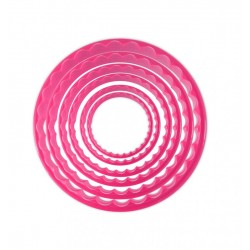 cookie cutters, round, smooth, fluted, cookies