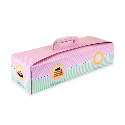 box, log, cake, pink, green, handle,