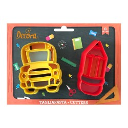 Cookie cutters, back 2 school, Bus, pencil, cookie
