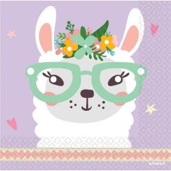 Serviettes, lama, décoration, anniversaire