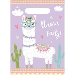 sachet, party, lama, cadeaux, anniversaire