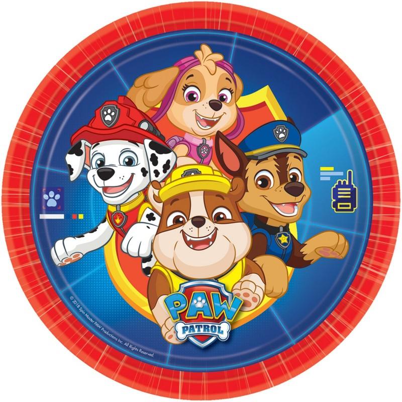 Plates, paw patrol, decoration, dog, birthday