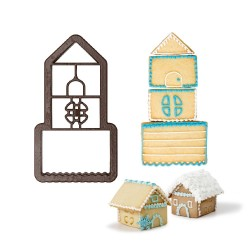 Cookie cutter, house, chalet, winter, chrismtas, royal icing