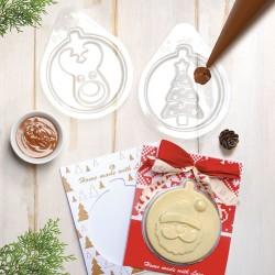 chocolat, moule, carte, noel, renne, sapin, étoile, père noel