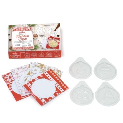 Chocolate, Mold, card, Christmas, reindeer, fir, star, santa claus