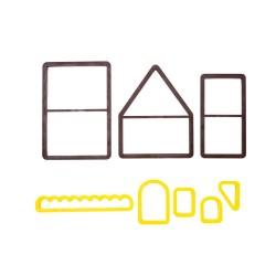 maison, noël, découpoir, emporte-pièces