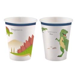 Becher, happy dinosaur, happy, Dinosaurier, Dekoration, Geburtstag
