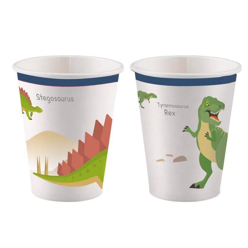 cups, happy dinosaur, happy, dinosaur, decoration, birthday