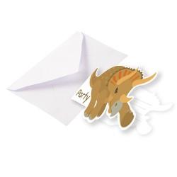 carte, invitation, dinosaures, anniversaire