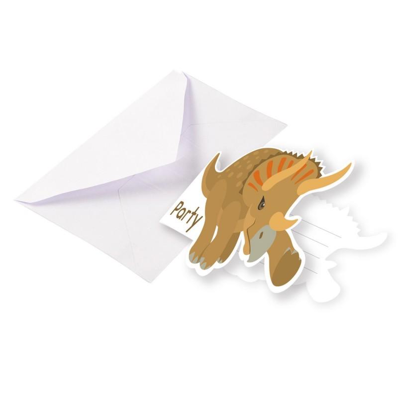 Card, invitation, dinosaur, birthday