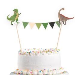 gâteau, décoration, dinosaures