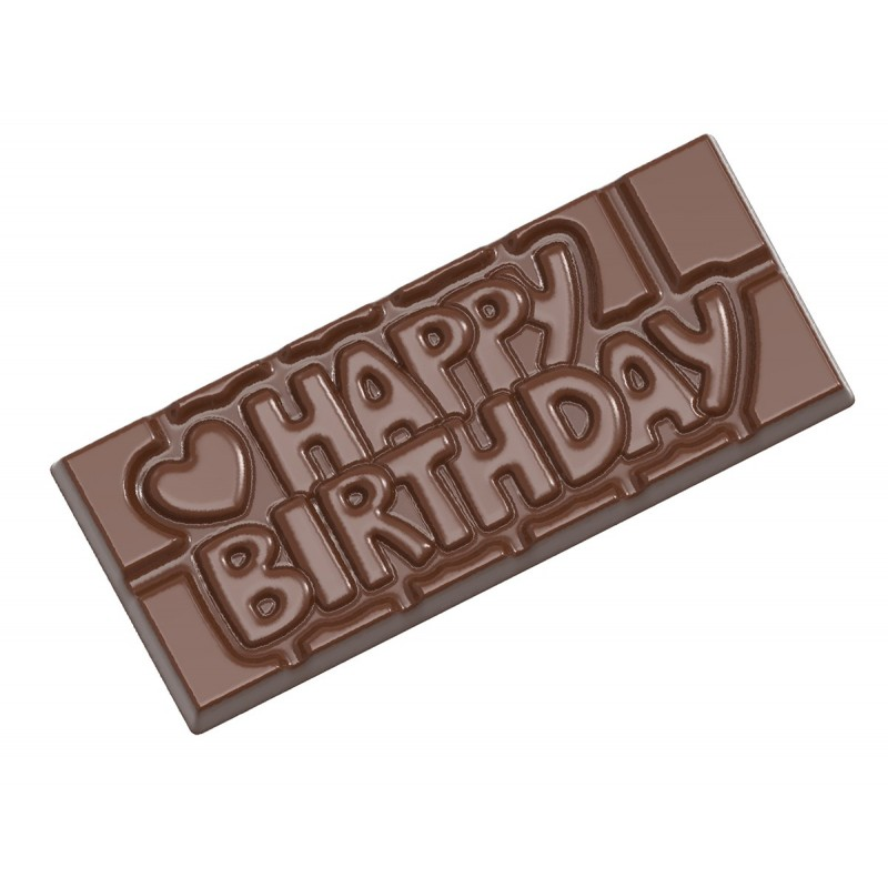Chocolate mould tablet Happy Birthday