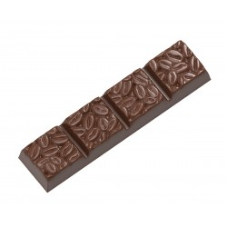 Chocolate mould bar Coffee bean