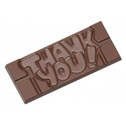 Moule à tablettes de chocolat Thank you