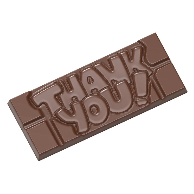 Chocolate mould tablet Thank you