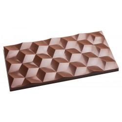 Moule à tablettes de chocolat facette