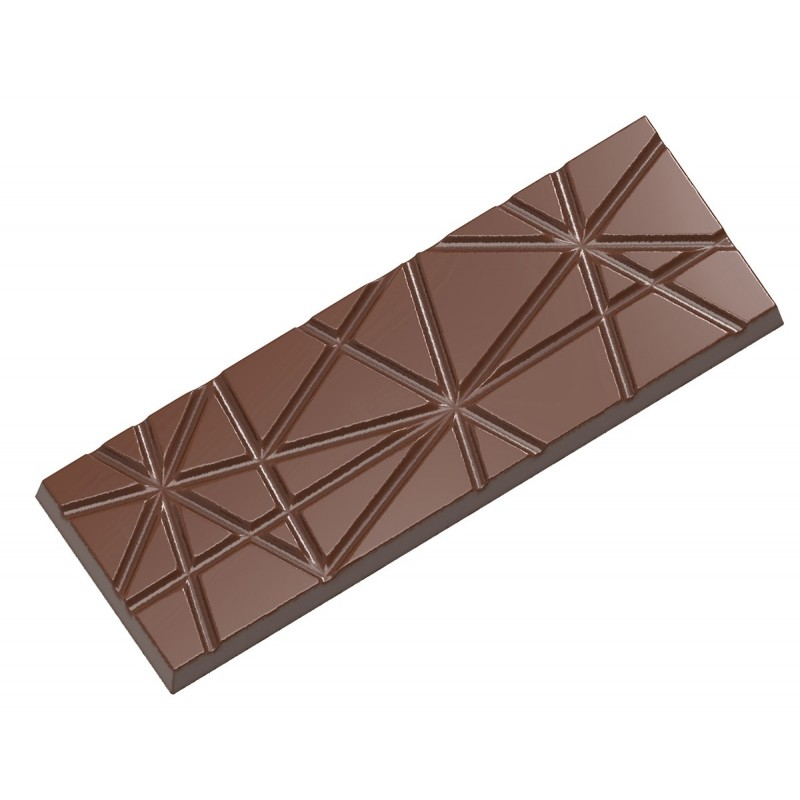 Chocolate mould tablet with stripes