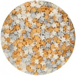 Paillettes Silver-Gold-White Stars Mix