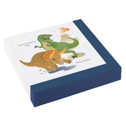 Napkins, happy dinosaur, dinosaurs, birthday, decoration