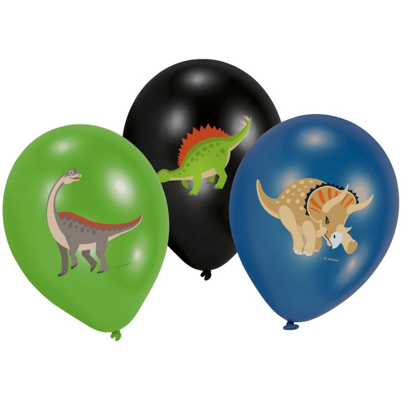Balloons, decoration, Happy dinosaur, dinosaur, birthday