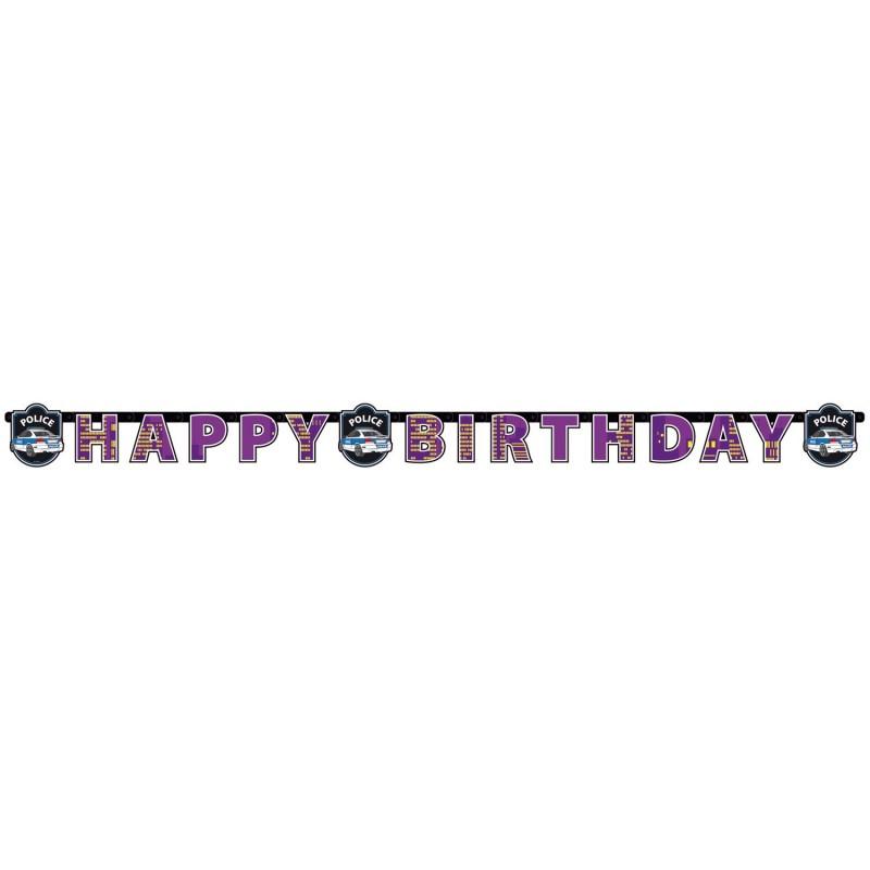 garland, police, birthday, decoration